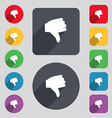 Dislike Thumb down icon sign A set of 12 colored vector image vector image