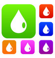 drop set color collection vector image vector image