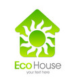 eco house green home vector image vector image