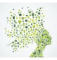 Ecology app icons splash Woman head vector image