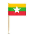 flag of myanmar flag toothpick vector image vector image