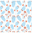 Floral seamless pattern with winter ash berry vector image vector image