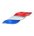 france flag as realistic hair volume colorful flow vector image vector image