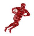 gaelic football male player vector image