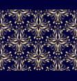 gold vintage damask seamless pattern floral dark vector image
