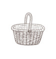 hand drawn basket vector image vector image