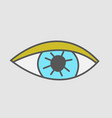 hand drawn eye stickers patch vector image