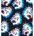 head of the ravenous beast pattern vector image vector image
