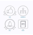 Hierarchy like and bell icons vector image vector image
