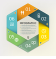 Infographic - six steps process vector image vector image
