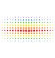 lock spectral halftone effect vector image vector image