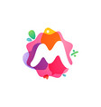 m letter logo with sale icons overlapping vector image vector image