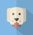 Modern Flat Design Dog Icon vector image vector image