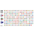 national flags of the countries vector image vector image