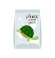 no plastic pollution concept vector image
