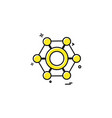 nut icon design vector image