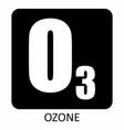 ozone icon vector image