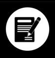 pencil notebook icon design vector image
