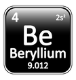 Periodic table element beryllium icon vector image vector image