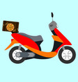pizza scooter concept of the fast pizza vector image