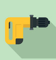 power drill icon flat style vector image vector image