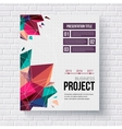 Presentation brochure template vector image