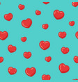 red hearts pattern colorful seamless vector image