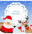Santa Claus and reindeer background for Christmas vector image vector image