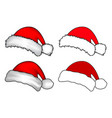 santa hat christmas cap icon set symbol design vector image