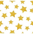 seamless pattern with gold shine glitter stars vector image