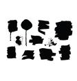 Set of black grunge brush strokes and splashes vector image vector image