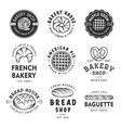 set of vintage style bakery shop labels badges vector image