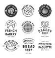 set vintage style bakery shop labels badges vector image