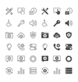 setting icons vector image vector image