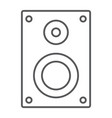 sound speaker thin line icon electronic digital vector image vector image