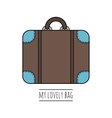 Suitcase isolated Color flat icon object vector image vector image