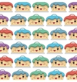 sweet cake character icon vector image vector image