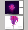 the layout of two a4 format modern cover vector image