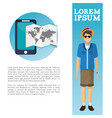travel flyer man catalog vacation vector image