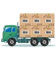 Truck With Cargo vector image vector image