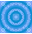 abstract pattern frame blue vector image