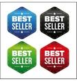 Best Seller patch set vector image