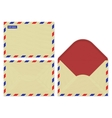 Craft paper set open front and rear surface of vector image