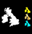 3d map of british isles vector image