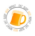 abstract beer label vector image
