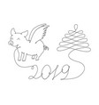 abstract new year symbol vector image vector image