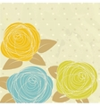 Abstract rose flower vector image vector image