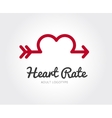 abstract valentine logo template vector image vector image