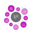 advertising infographic 10 steps bubble design vector image vector image