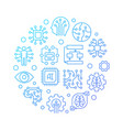 ai technology round blue line on vector image vector image
